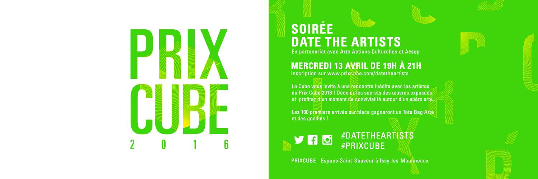 DateTheArtists Prix Cube 2016